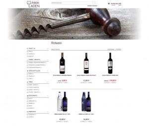 Webshop in euro-Sales Vino