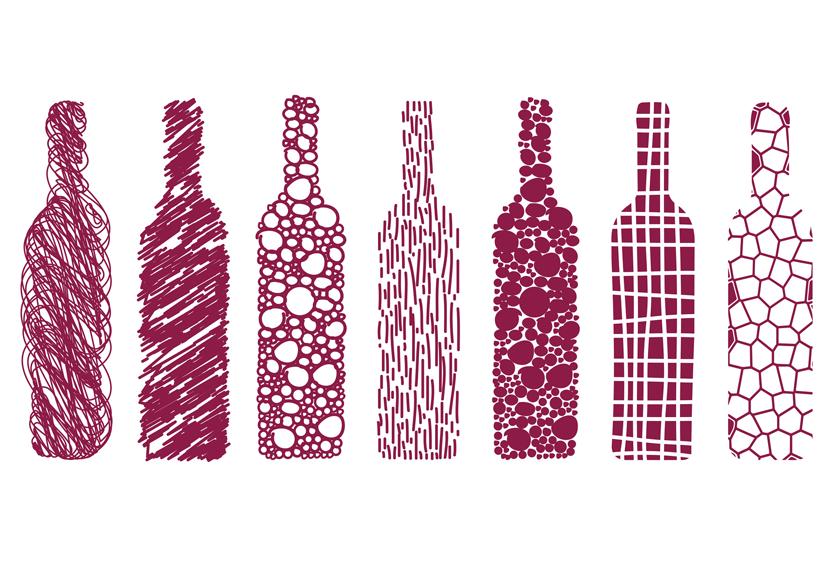 Sieben Chunks im Weinhandel