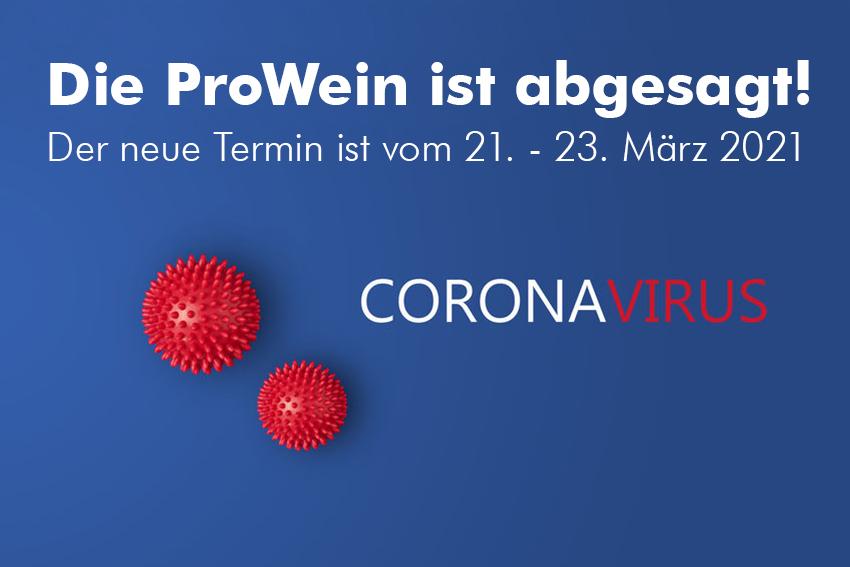 Coronavirus - die ProWein ist abgesagt