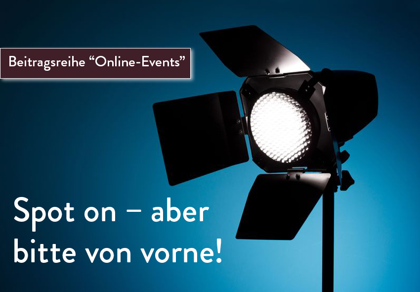 Optimale Beleuchtung bei Online-Events