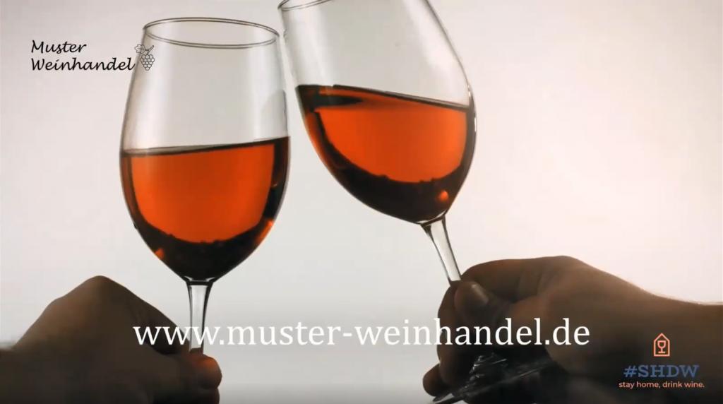 Ausschnitt aus dem Video zu unserer Aktion Stay home, drink wine - #SHDW
