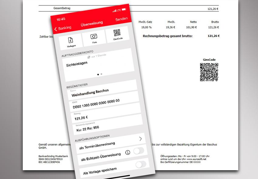 Überweisungen per QR-Code scannen