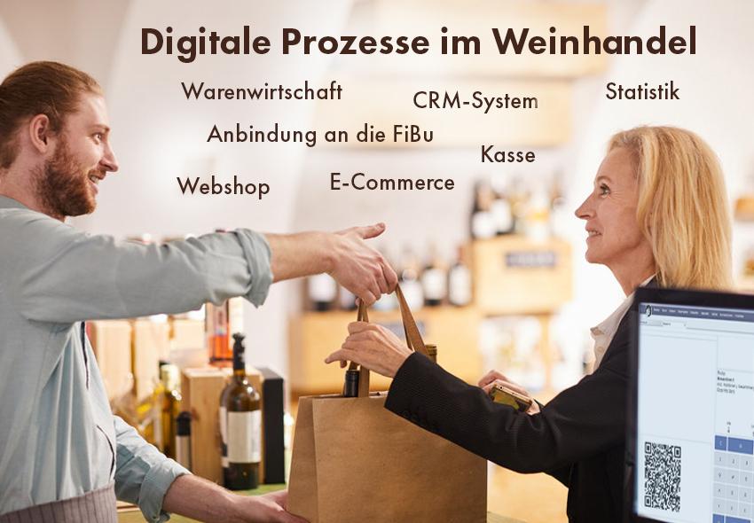 euro-Sales Vino vernetzt alle digitalen Prozesse für Ihre Weinhandlung